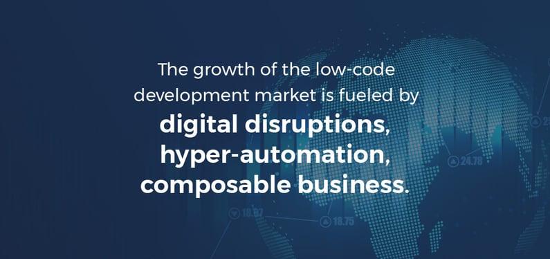 Gartner growth of low-code market