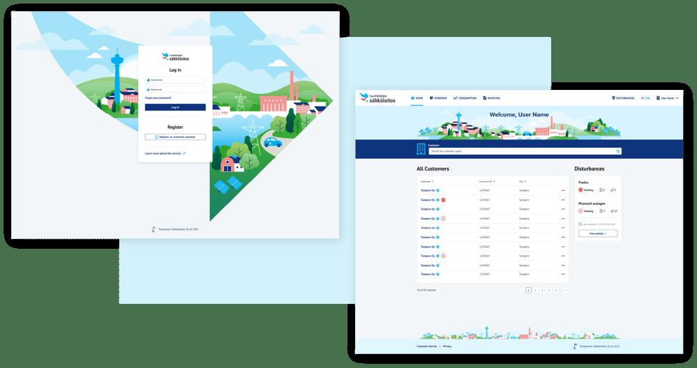 TSL applications screenshot - Login Dashboard