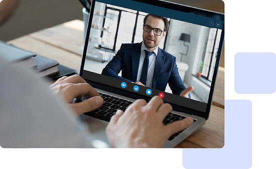 Video call with a customer